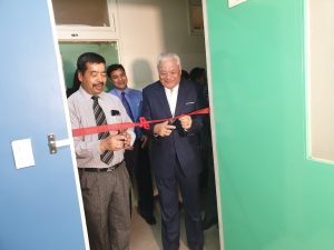 Inauguration of renovated faculty lounge.
